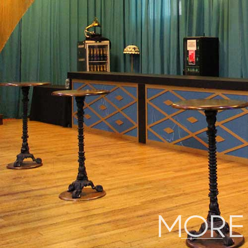 Wrought Iron Poseur Table