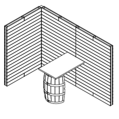 X1 Large Pallet And Barrel Stand