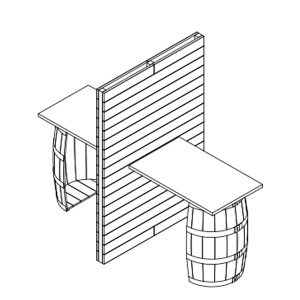 X2 Small Pallet And Barrel Stand