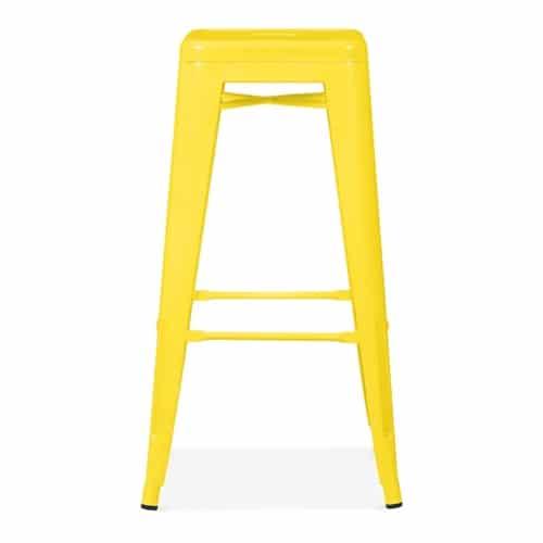 Yellow Tolix Poseur Stool