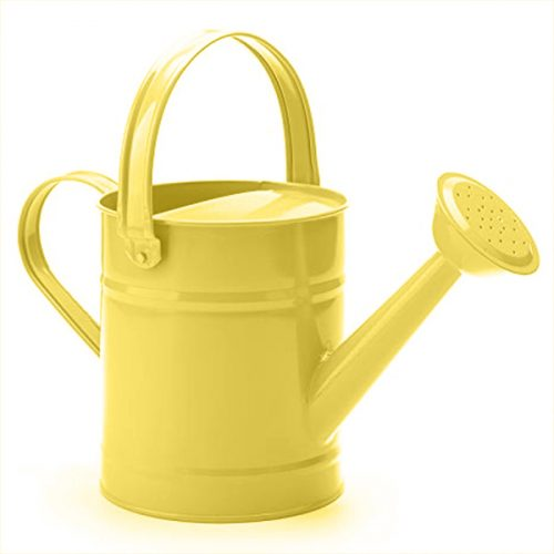Yellow Metal Watering Can