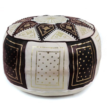 Moroccan Black And White Pouffes