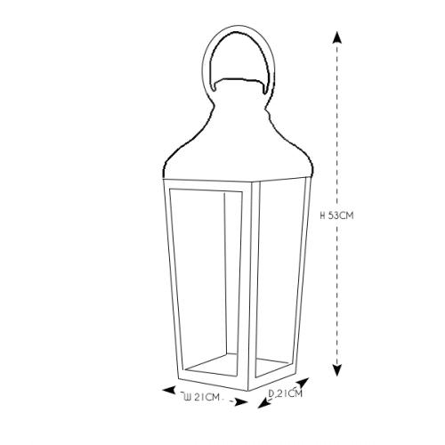 Chrome and Glass Lantern Medium