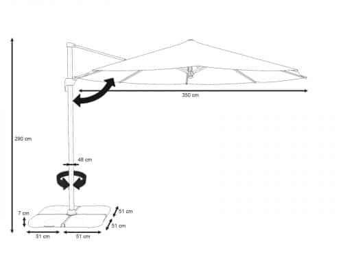 Parasol Cantilever 3.5m