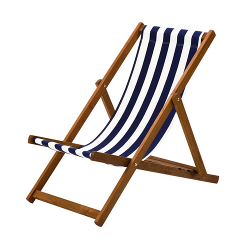 Deck Chair - Blue And White Striped