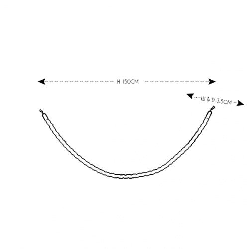 Entrance Rope Black (chrome)