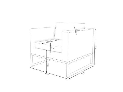 Rattan Grey Arm Chair