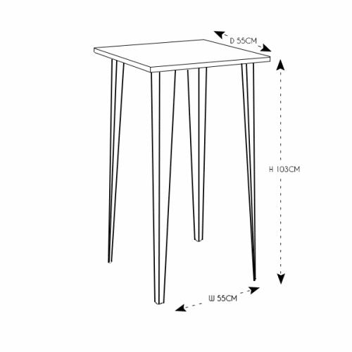Hairpin Poseur Table