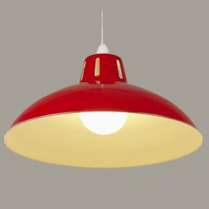 Red Retro Lamp Shade (Large)