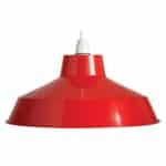 Red Retro Lamp Shade (Medium)
