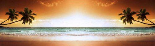 Tropical Sunset Beach Backdrop