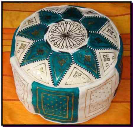 Moroccan Turquoise Pouffes